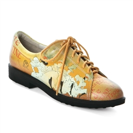 "Jolie-446 Golf and Walking Shoe in ""Showgirls"" by Toulouse-Lautrec"