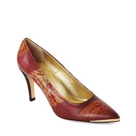 "Maria-462 High Heel Pump/Metal Toe Rand in ""Russian Red"" by Yulia Luchkina"