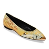 "Marla-446 Pointed Flat w/ Metal Toe Rand in ""Showgirls"" by Toulouse-Lautrec"