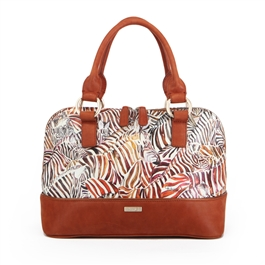 "Norma-452 Dome Satchel in ""Streamline by Cecile Hubene"