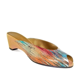 "Peace-475 Peep Toe Slide in ""Rosetto Series"" by Pietro Adamo"