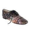 "Peggy-463 Lace Up Flat in ""Water Serpents II"" by Gustav Klimt"