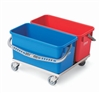 Vileda 149624 Double Polyproylene Bucket Dolly with Stainless Steel Chassis, (2) 22 Liter