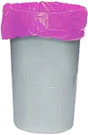 "5076 Anti-Static Pink Trash Can Liner 24""x34"", 50 Bags"