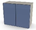 "24"" x 20"" x 11"" Wall Cabinet, Two Doors/One Adjustable Shelf"