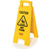 "26"" x 11"" Floor Sign w/ ""Caution Wet Floor"" Imprint, 2-Sided (QTY: 6)"