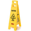 "38"" x 12"" Floor Sign w/ ""Caution Wet Floor"" Imprint, 4-Sided (QTY: 6)"