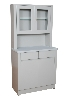 "32"" x 65"" x 16.25"" Treatment Cabinet w/ Upper Cabinet Section, Two Doors, Two Drawers, One Shelf"