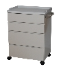 "25"" x 34.25"" x 18"" Mobile Treatment Cabinet, Four Drawers"