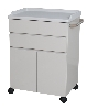 "25"" x 34.25"" x 18"" Mobile Treatment Cabinet, Two Drawers, Two Doors"