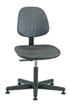 Bevco Dura Model 7000DC Class 10 Cleanroom Polyurethane Chair, Seat Height, 24 - 29 Inches, Plastic Base