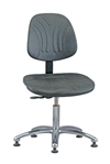Bevco Dura Model 7050DC Class 10 Cleanroom Polyurethane Chair, Seat Height, 14.5 - 19.5 Inches, Aluminum Base