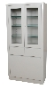 "31.5"" x 66.5"" x 15.5"" Storage & Supply Cabinet w/ Upper Cabinet, Two Doors, Two Shelves"