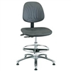 Bevco Dura Model 7350DC Class 10 Cleanroom Polyurethane Chair, Seat Height, 17.5 - 25 Inches, Aluminum Base