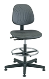 Bevco Dura Model 7500DC Class 10 Cleanroom Polyurethane Chair, Seat Height, 21 - 31 Inches, Plastic Base