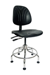 Bevco Dura Model 7610DC Class 10 Cleanroom Polyurethane Chair, Seat Height, 24 - 29 Inches, Tubular Steel Base