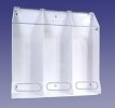 "AK-JN3-C Three Compartment Clear Multi-Purpose Dispenser, 30""Wx30""Hx10""D"