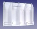 "AK-JN4-C Four Compartment Clear Multi-Purpose Dispenser, 40""Wx30""Hx10""D"