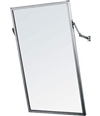 "CleanPro AT-18 X 30 Wall Mounted Cleanroom Mirror with Welded Stainless Steel Frame & Adjustable Tilt, 18"" x 30"""