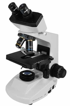 Biological Binocular Microscope with Track Stand