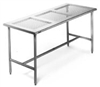 Eagle Stainless Steel Cleanroom Table with Perforated Top
