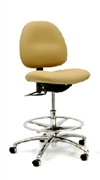 Gibo/Kodama Stamina ESD Conductive Chair with Chrome Footring