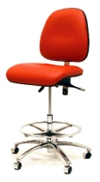 Gibo/Kodama Synchron ESD Conductive Chair with Chrome Footring