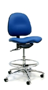 Gibo/Kodama Stamina ESD Conductive Chair with Chrome Footring & Saddle Seat
