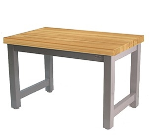 Butcher Block Workbench >> 30 X 30 Heavy Duty Workbench With 1 75 Thick Oiled Maple Butcher Block Surface