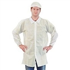 Keystone Polypropylene Lab Coat w/ No Pockets, Elastic Wrists, Snap Front, Single Collar, White
