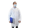 Keystone KeyGuard Microporous Lab Coat w/ No Pockets, Non-Elastic Wrists, Snap Front, Single Collar, White
