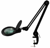 ESD-Safe LED Magnifier with 3 Diopter Lens & Edge Clamp, Black