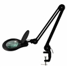 ESD-Safe LED Magnifier with 8 Diopter Lens & Edge Clamp, Black