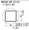 NK3265 QFP Nozzle for Quick861DW/856AX/856AE/855PX/712A/713A