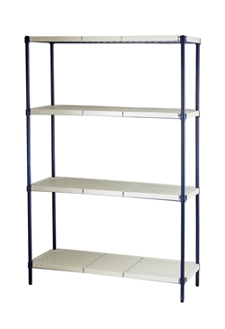 "Plastic Mat Wire Shelving Unit, 24"" x 36"""