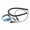 Adjustable Wrist Strap with 4mm Snap & Alligator Clip, Blue, includes 12' Coil Cord