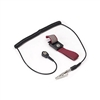 Adjustable Wrist Strap with 4mm Snap & Alligator Clip, Maroon, includes 6' Coil Cord