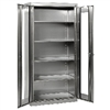 "36"" x 18"" x 72"" Stainless Steel Clearview Cabinet w/ Swing Handle Lock"