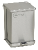 "16"" x 11¾"" x 13"" Step-On Stainless Steel Waste Receptacle, 6-gal. Capacity"
