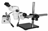 Stereo Zoom Binocular Microscope with Dual Boom Stand & Dual Point Light
