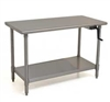 Eagle ADA/Ergonomic Height Adj. Stainless Steel Table with Stainless Shelf Base, 24 x 48