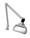Luxo 18845LG WAVE+LED Magnifier with 3.5 Diopter Lens & Edge Clamp, Light Grey