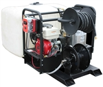 MNEQ-3635EOHGG - 200 Gallon Skid  Hot Pressure Washer and Reels