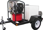 T185SKH Trailer with SK30005VH Hot Mobile Pressure Washer Skid