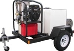 T185SKH Trailer with SK40004HH Hot Mobile Pressure Washer Skid