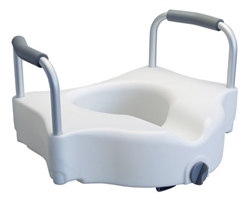 Raised Toilet Seat with Armrests - Click the picture for more product information.