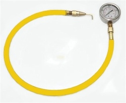 "Pitot Tube attached to 30"" Flex Hose with 160PSI pressure gauge"