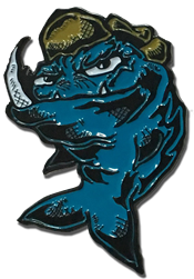 Mean Fish enamel pin