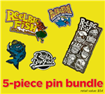 5-piece enamel pin bundle