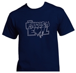 Forces of Evil outlined logo tee - navy